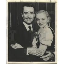 1936 Press Photo Actor John Gilbert Marries Virginia Bruce - ftx02581