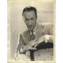 """1939 Press Photo Actor Rod La Rocque for """"Let Us Be Gay"""" - ftx02637"""
