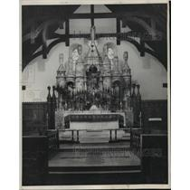 1949 Press Photo Saint Michael and All Saints Church in Anniston, Alabama