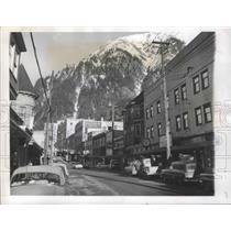 1959 Press Photo Juneau, Alaska Mountains - ftx01866