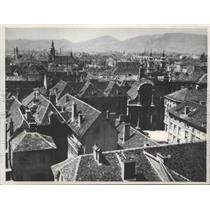 1938 Press Photo Graz, Austria Aerial View - ftx01688
