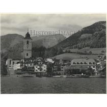 1956 Press Photo St Wolfgang in Salzburg, Austria - ftx01695