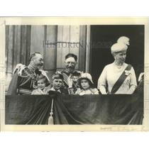 1935 Press Photo King George, Queen Mary on Buckingham Palace Balcony