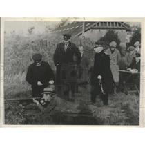 1927 Press Photo King Christian of Denmark at Copenhagen Sharpshooters Meeting
