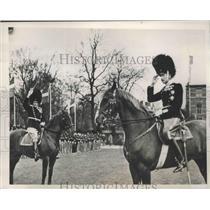 1939 Press Photo King Christian of Denmark Reviews Royal Guard, Copenhagen