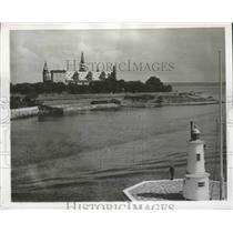 1954 Press Photo Elsinore Seaport, Denmark - ftx02081
