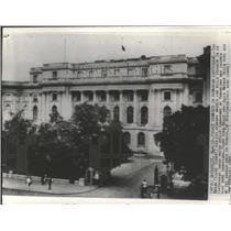 1940 Press Photo Bucharest, Romania Royal Palace Damaged in Earthquake