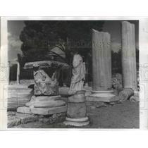 1958 Press Photo Salamis, Cyprus Ruins - ftx02151