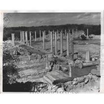 1958 Press Photo Salamis, Cyprus Marble Forum Ruins - ftx02152