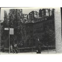 1938 Press Photo Karlsbad, Czechoslovakia under Martial Law - ftx02154