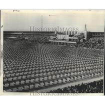1938 Press Photo Praha, Czechoslovakia Slet Athletic Exhibition - ftx02155