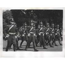1962 Press Photo San Martin Horseback Grenadiers in Buenos Aires, Argentina