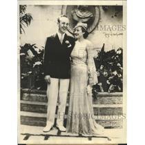 1933 Press Photo William Randolph Hearst Jr Marries Mrs Carver in Palm Beach