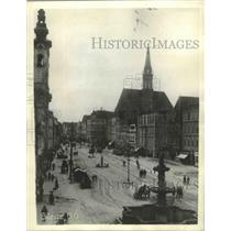 1934 Press Photo Steyr, Austria Main Streets - ftx02664