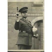 1928 Press Photo Harry Marsh, holder of world's record at pistol shooting