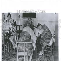 1963 Press Photo Food Poisoning Victims Hospital Visit