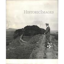 1965 Press Photo Roman England stone wall coast force
