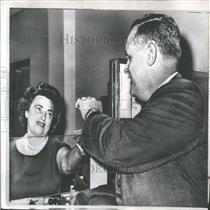 1961 Press Photo Gus Hall American Communist