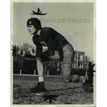 1941 Press Photo Alabama Football Player Ted Cook - abnx00325