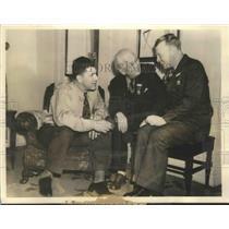1937 Press Photo Chicago Cub Represent by Charlie Grimm John Seys & Red Corriden