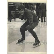 1930 Press Photo Art Pickering of New York Champion Speed Skater - sbs02098