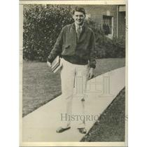 1931 Press Photo Don Moe Western Amateur golfer for the Walker Cup Eugene OR