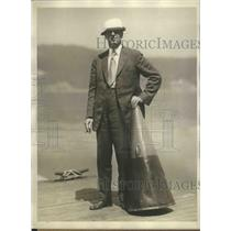 1929 Press Photo Richard Glendon head coach of US Navy crews at Poughkeepsie NY