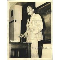 1936 Press Photo Robert Burke Boxer & Pres-Elect of Columbia Univ Junior Class