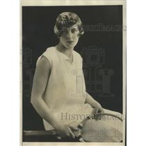 1928 Press Photo Ruth Dixon, famed as both tennis star and international beauty
