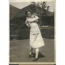 1927 Press Photo Miriam Burn Horn in finals of Women's Natl. Golf Championship