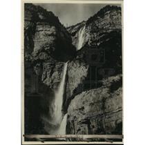 1928 Press Photo View Falls in Switzerland remind one of of Yosemite Falls in CA