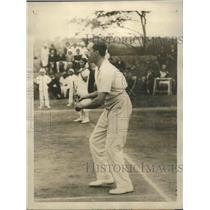 1924 Press Photo His Majesty Don Alfonso King of Spain at tennis in Madrid