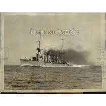 1927 Press Photo The USS Richmond light cruiser at Manila Philippines