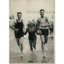 1929 Press Photo Philip Campolo, Humbert Fugazy, Vittorio Campolo in Manhattan