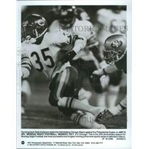 1989 Press Photo Chicago Bears football Running Back, Neal Anderson, during game