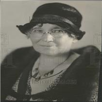 1930 Press Photo Mrs. A. G. Fish Denver Woman Hat Fur