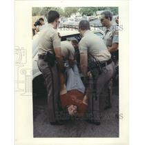 1992 Press Photo Abortion Demonstration