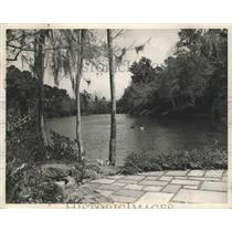 1953 Press Photo Bellingrath Gardens in Mobile, Alabama - abnz00349