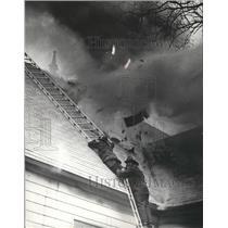 1979 Press Photo Birmingham, Alabama, Fire Department in action - abnz01143