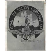 1951 Press Photo Official insignia of the Birmingham Naval Air Station