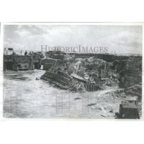 1961 Press Photo Fort Sumter Damage