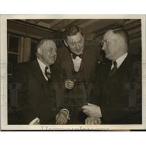 1943 Press Photo New York Don Rose RL Ireland Edward Burke at wage meeting NYC