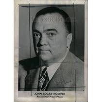 1942 Press Photo John Edgar Hoover FBI racketeers war