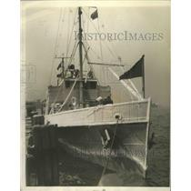 1930 Press Photo Coast Guard Cutter Marion Arriving in NY from London