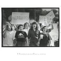 1991 Press Photo Students Protest Largo Middle School