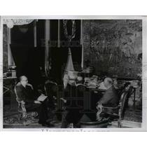 1964 Press Photo Francisco Franco Spain's chief of State talks with Robert Wood