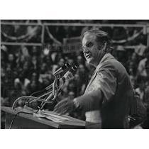 1972 Press Photo Senator George McGovern (D-South Dakota) visits Spokane.