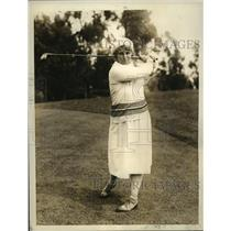 1931 Press Photo Mrs. Brent Potter, Stanford U Co-Ed Golf Instructor - sbs05019