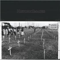 1991 Press Photo Anti-Abortion Protest Tampa Florida