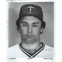 1989 Press Photo Minnesota Twins baseball outfielder, Jim Eisenreich - sps02829